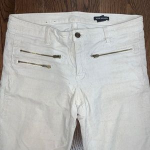 Club Monaco Corduroy Jeans - White - 27